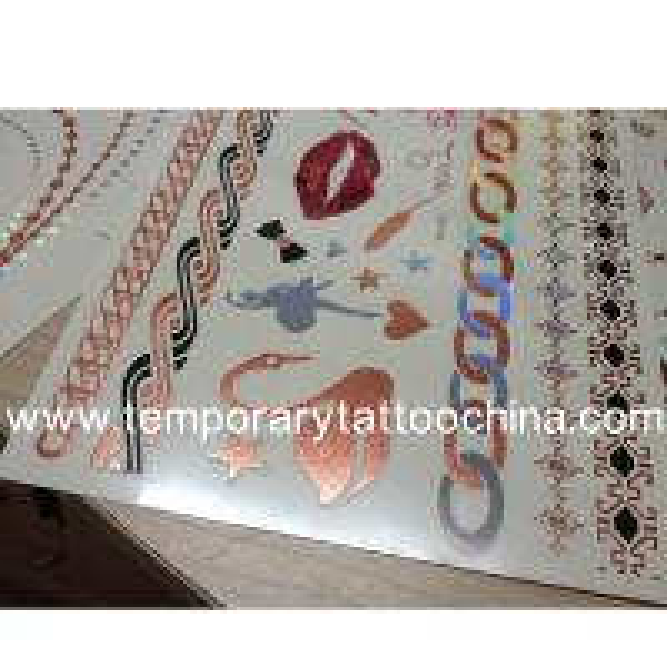 Cheap metallic temporary custom uv change colors tattoo for Custom tattoo stickers