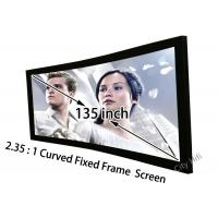 China High Resolution Home Cinema Projection Screen Curved 135inch HD Matt White on sale