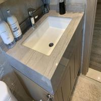 Buy cheap Natural Quartz stone Marble bathroom Vanity Tops For Hospitality Remodeling from wholesalers