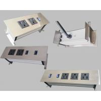 Quality 3 Outlets Furniture Power Strip , Embedded Tabletop Desktop Power Sockets wholesale
