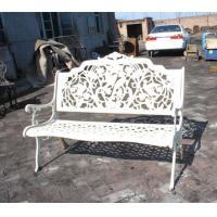 China Rattan White Cast Iron Table And Chairs / Antique Metal Outdoor Armchair on sale