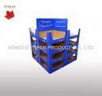 Quality Corrugated advertising Blue Dump Bin Display Matte Lamination Pop Bin Display wholesale