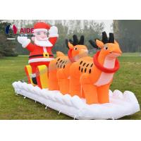 Cheap Set Snowman Inflatable Christmas Decorations Santa Car Blow Up Tree For Holiday Yard Show for sale