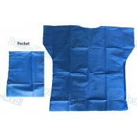 Quality Over Lock Sewing Disposable Scrub Suits , Custom Size Blue Scrub Suit wholesale