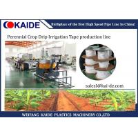 Quality Perennial Crop Drip Irrigation Flat Drip Pipe Manufacturing Machine Low Noise wholesale