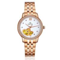 Quality Fashion Rose Gold Automatic Mens Wrist Watches With Stainless Steel Back wholesale