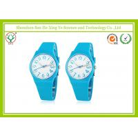 China Interchangeable Silicone Blue Strap Durable Quartz Watches For Women on sale