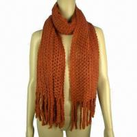 Quality Lace Patern Knitted Scarf, Made of Acrylic wholesale