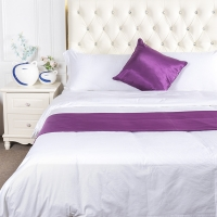 China Linen 100% Polyester Hotel Bed Runner And Cushion Sets on sale