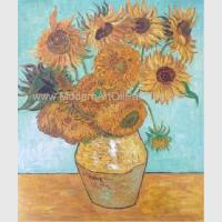 Quality Hand Painted Van Gogh Oil Reproduction, Vincent Sunflowers Still Life Oil Paintings wholesale