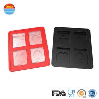 Quality 2019 Best Cool Easy Released Custom Bar Pub Saloon Fancy Playing Card Poker Shaped Silicone Ice Cube Tray For Cocktail wholesale