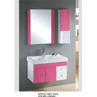 Quality 70 X 45 / cm white vanity cabinets for bathrooms , waterproof bathroom cabinets Aluminium handles wholesale