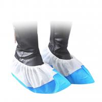 China Plastic Disposable Shoe Cover Anti Slip Anti Bacterial Dustproof Foot Cover on sale
