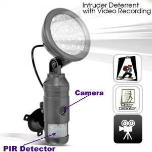 Quality Flood Light IR Night Vision Human Body PIR DVR Camera Intruder Deterrent W/ Motion Detect wholesale