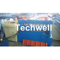 Quality 0.3 - 0.8 mm Thick Roof Sheet Cold Roll Forming Machine with PLC Computer Control wholesale