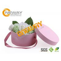 Quality Cylindrical Wedding Candy Gift Paper Round Flower Box For Bridal And Baby Shower wholesale