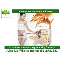 Quality Lightly Brown Natural Meal Replacement Shakes Satiety Milk Tea For Weight Loss wholesale