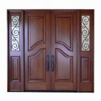 Quality Solid mahogany exterior door with frame, architraves and molding wholesale