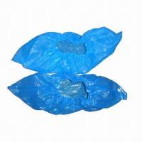 Quality Shoe Covers, Made of Polyethylene, Available in Blue Color wholesale