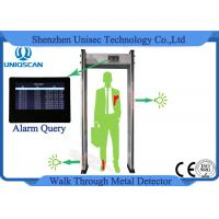 Quality Multi Zones Walk Thru Metal Detectors , Security Check Gate 999 Sensitivity Level wholesale