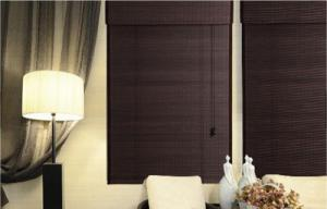 China Bamboo Printed 27W 48L Roller  Natural Woven Shade on sale
