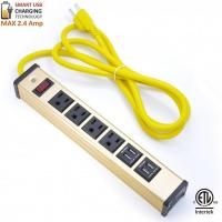 Quality Multi Outlet Desktop Power Strip With USB , Slim Power Bar With USB Charger wholesale