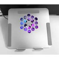 China 12025mm LED RGB Fan Aluminum Alloy Laptop Cooler Stand 12 Inch on sale