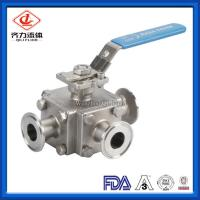 Quality Stainless Steel Sanitary Ball Valve 1 - 4 Inches 3 Way Medium Pressure wholesale