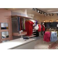 Cheap Lady Retail Clothing Store Shelves With Wooden Stainless Steel Material for sale