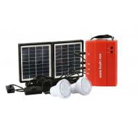 China popular off-grid area rechargeable 4W DIY solar lighting kits with 2 led light power bank solar charger controller on sale