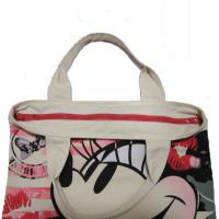 Quality Waterproof Shopping  Nylon Tote Bag 420D Mickey Pattern With Zipper wholesale
