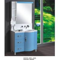 China Light blue round Type Hanging Bathroom vanity double sink 92 X 48 / cm artificial stone Basin on sale