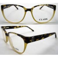 Cheap Yellow Black Square Acetate Stylish Womens Eyeglass Frames 53-16-136mm for sale