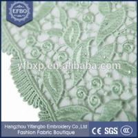 Quality High quallity mintgreen embroidered african chemical lace wholesale