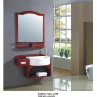 Quality Simple Feature Solid Wood Bathroom Cabinet 4 / 5 mm silver glass mirror wholesale