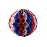 Buy cheap Multicolor Paper Honeycomb Balls , Foldable Honeycomb Pom Pom Decorations from wholesalers