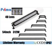 Quality Offroad 54 Inch Curved LED Light Bar 312 Watt Super Bright 4D Optical Lens wholesale