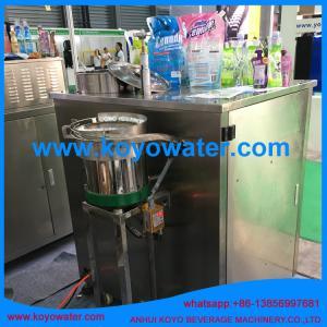 liquid milk juice water stand up retort spout pouch filling machine