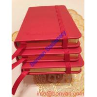 China small quantity selling PU leather composition notebook,promotional leather notebook on sale