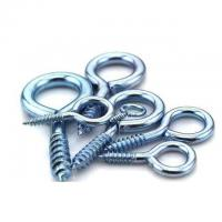 China Hardening Zinc Plated Screw Eyes Round Head For Buildings / Engeering Equipment on sale