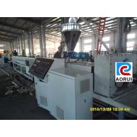 Quality HDPE / LDPE Plastic Pipe Extrusion Line , Single Wall Corrugated Pipe Production Line wholesale