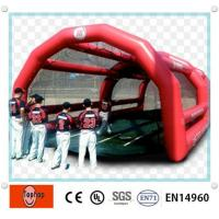 Quality Commercial Airtight Inflatable Batting Cages With 0.9mm PVC Tarpaulin Material wholesale