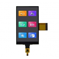 Quality 3.3V 4.3 Inch TFT LCD Display / 200cd/M2 Capacitive Touch Screen Panel wholesale