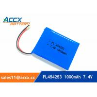 Quality 7.4V 1000mAh 454253 lithium polymer battery pack li-ion rechargeable battery for GPS wholesale
