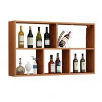 Quality Anti Crack Wooden Shop Display Showcase / Wall Mounted Wine Rack Stable wholesale