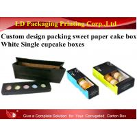 China Custom Design Packaging Sweet Paper Cake Box white Single Cupcake Boxes on sale