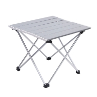 Quality Leisure Time Portable Outdoor Aluminum Folding Camping Garden Picnic Table Carry Case wholesale