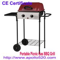Cheap UK Type Portable Gas Grill BBQ in red for sale