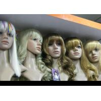 Quality Custom Blonde Wavy Human Hair Full Lace Synthetic Wigs Glueless Heat Resistant wholesale