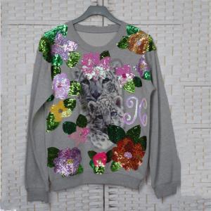 China Long Sleeves Customized Polo T Shirts , Womens Crew Neck Sweatshirt on sale